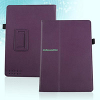 "For Kindle   EP4937 Magnetic PU Leather Case Cover Stand Holder For Barnes & Noble Nook HD 9"" Purple"
