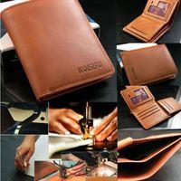 Men PU Wallets Classic Men's Leather Wallet Pockets ID Card Clutch Cente Bifold Billfold Purse