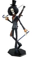 achat en gros de pirates portrait-Un morceau Action Figure Brook POP portrait du squelette de Pirates Canon Anime PVC 12quot ; Jouets livraison gratuites