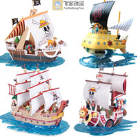 Wholesale Japanese anime action figure One Piece POP The New World Ship Boat Model Trafalgar Law Luffy Shanks pvc figures toys