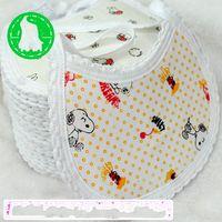 Cotton baby wipes - Layer cotton children waterproof bib saliva towel babies Wipes Burp Cloth Scarf