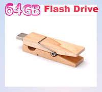 Wholesale DHgate GB Wood Clamps Shape USB Flash Memory Pen Drive Sticks Thumb Drives Disks Discs GB Pendrives Thumbdrives K017O