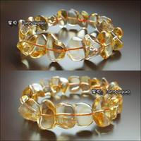 Natural crystal / semi-precious stones Citrine Long-run Blue [Blue] 16mm Brazilian long-run natural citrine bracelet natural crystal bracelet with jewelry type