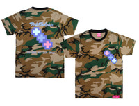 Men Cotton Polo 2013 New arrival Camouflage Pink dolphin t shirts 100% cotton Camouflage coke boys Trukfit T shirt mix order 10pcs lot