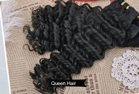 Wholesale 5A Grade Peruvian Virgin Deep Wave Deep Curly Hair Weave Extension Natural Black Color Human Hair Weft Inch Mix Size Available