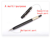 Wholesale 1000pieces in1 Capacitive Touch Stylus Pen and Ball Point pen Clip Design for all Smart phone and tablet