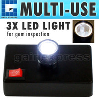Wholesale N Desktop LED light for Polariscope Darkfield Loupe Identifier Tool