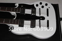 Solid Body 6 Strings Mahogany Wholesale - New-right handed 2013 Double-Neck Electric Guitar white #117
