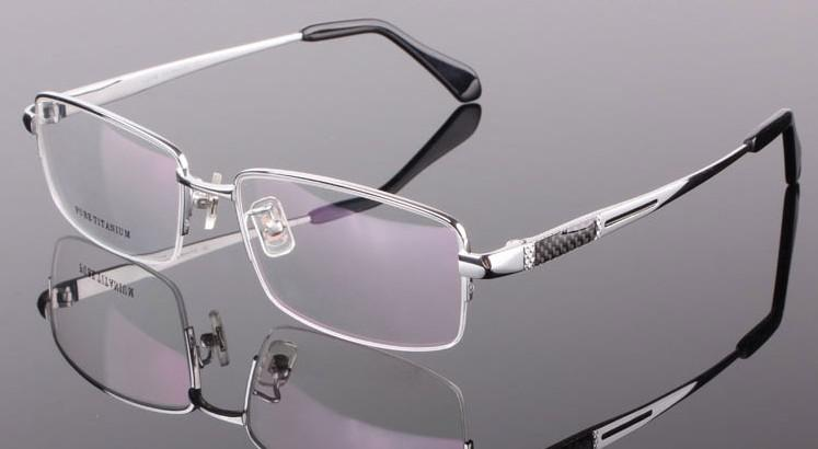 Big Face Fat Mens Titanium Eyeglass Frames Black Or Silver ...