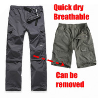 Men cargo pants - Summer UV Outdoor men s Quick Dry Pants fishing Cargo Pants soprts climbing breathable trousers
