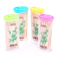 Wholesale Portable toothpick box bamboo toothpick lighter carry c977