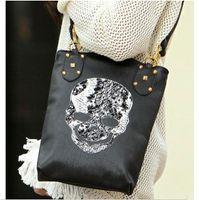 Women Plain PU 2013 new style Korean women punk skull bag shoulder bag handbag pu leather designer bags #9622