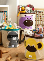 Wholesale Doomagic Baby Animal Canvas Storage Bins Cotton Soft Nursery Decor Toys Storage Baby Room Baskets Hampers Bins B0736