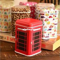 Wholesale New vintage style house shape quality iron case storage case tin box