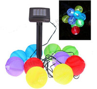 Wholesale Garden Yard Solar Powered LED Mini Colorful Nice Lantern Lamp String Lighting For Decoration