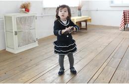 Hot sale girl's autumn dress turndown collar shirt+ruffle dress girl's cake skirt 5piece a lot