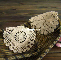 Bamboo bamboo placemats - cotton fabric LACE round Crochet doilies table placemats Doily CM