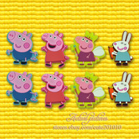 Wholesale 2013 New Arrival Peppa pig designs PVC Shoe Charms Fit Jibbitz pvc Shoe Accessories