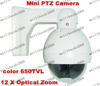 Wholesale 650TVL Super HAD II CCD Effio e X Optical Zoom Lens Vandalproof Mini PTZ Speed Dome CCTV Camera
