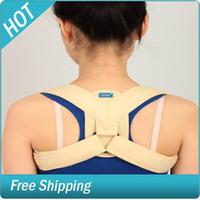 Back   Adjustable Therapy Back Support Brace Belt Band Posture Shoulder Correction