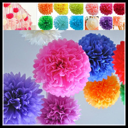 Hot Selling 20cm Paper Flower Ball for Wedding Supplies with 13 different colors Beautiful Party decorations simulation artificial flowers