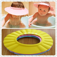 Wholesale 6pcs Baby Care Product Bath Shower Products Shampoo Cap Multi Function Caps with Four Buttons for Adjusting Different Size