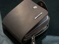 Wholesale Men s Leather Brown Bifold Zip AROUND Wallet Coin Bag Purse Card holder handbag