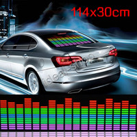 Wholesale 114cm cm Car Music rhythm lamp led sound activated equalizer Multi color flashing light TV155 DHL free