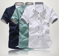 Cheap New Casual shirts fashion male slim short sleeve shirts for spring,summer,autumn,polo shirts Print Mushrooms M,L,XL,XXL