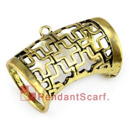 12PCS LOT, Hot Fashion DIY Jewellery Scarf Pendant Antique Brozne Zinc Alloy Hollow Out Charm Slide Bails Tube, Free Shipping, AC0199B