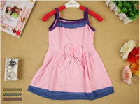 Wholesale new arrival kids summer clothing baby girls dresses summer mix color design size