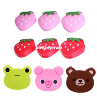 Cheap 3 Pcs Cartoon Shape Coin Case Jewelry Storage Box Pill Container