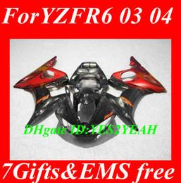 Fairing Bodywork for YAMAHA YZFR6 2003 2004 2005 YZF R6 YZF600 R6 03 04 05 red gloss black fairings set+gifts YD25