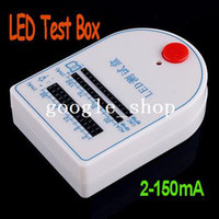 Wholesale White Mini LED Tester Test Box mA V Battery freeshipping dropshipping