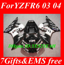 Fairing kit for YAMAHA YZFR6 2003 2004 2005 YZF R6 YZF-R6 YZF600 R6 03 04 05 white black fairings bodywork+gifts YD35