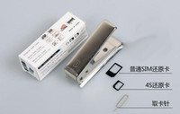 For Apple iPhone box cutter - Stainless Steel Nano SIM Card Cutter For iphone G IPHONE5 IPAD MINI with Micro Full SIM Adapters Adapter SIM Card Eject Pin Retail Box