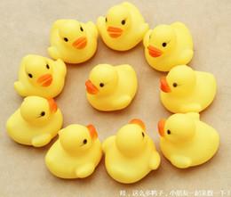 Wholesale 100pcs Baby Bath Water Toy toys Sounds Yellow Rubber Ducks Kids Bathe Children Swiming Beach Gifts