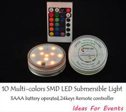 SUBMERSIBLE LED RGB multi colors Remote control LED vase Base light centerpieces for wedding party decoration