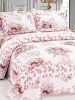 Wholesale Sweet Multi Color Floral Print Cotton Piece Quilt Bedding Set chair cover u10 IO
