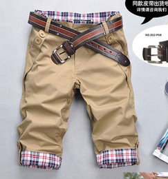 Wholesale Two buckle folding pocket design Slim casual fashion men s casual pants men Pants stickers