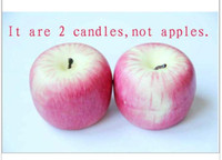 cr001 candle box - Christmas apple shape candles X Mas apple candle home decoration gift fancy festival candles gift box packing by DHL