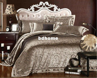bes sheet - Queen amp King size Luxury comforter bedding set duvet covers Jacquard satin bes sheet
