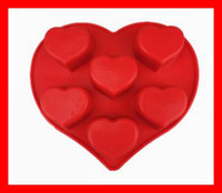 Wholesale candle moulds heart shaped chocolate silicone cake molds