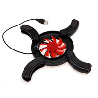 Wholesale New Mini Portable USB Folding Mini Cooler LED Fan Cooling Pad for Notebook Laptop