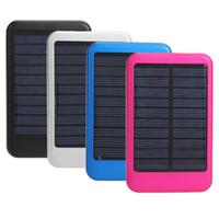 бесплатная доставка высокое качество полная мощность банк 5000mAh зарядное устройство панели солнечных батарей Внешняя батарея для Iphone 5, Samsung S4