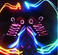 Halloween   Hot selling!!LED Flashing Shoe Lace Fiber Optic Shoelace Luminous Shoe Laces Light Up Shoes lace 10pcs(5pair) free shipping