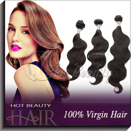 Wholesale Mix length bundles body wave indian virgin remy human hair weave natural black