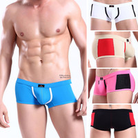 Men Nylon Boxers & Boy Shorts Sexy Men'S Mens Boxers Boy Underwear Briefs Pouch Low Rise Boxer Briefs Trunks Breathe Holes Designer Underpants S M L 3 Size Sample