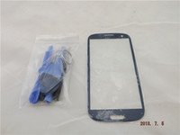 Wholesale New Blue Glass Lens Outer Replacement Screen for Samsung Galaxy S3 i9300 with Free Tools P165