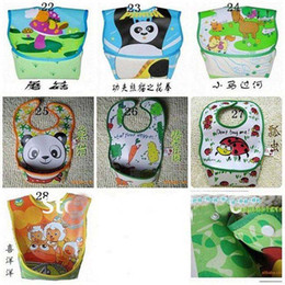 Wholesale off per order Kids wear hot sale brand PVC baby bibs